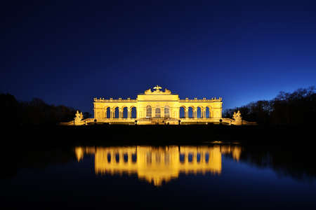 the gloriette: Gloriette Vienna At Night Editorial