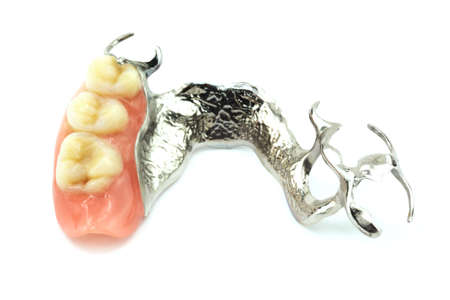removable: Removable partial denture Stock Photo