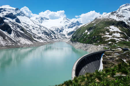 hydroelectricity: Kaprun High Altitude Reservoir Stock Photo
