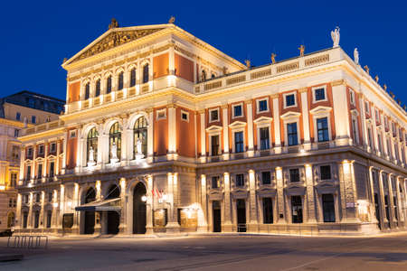 innere: Wiener Musikverein at evening Editorial