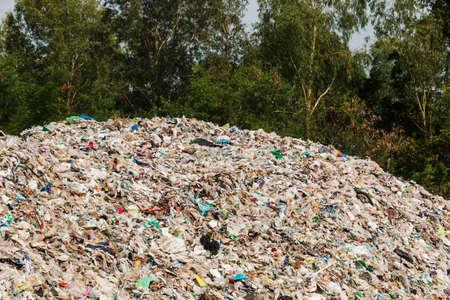 uncontrolled: Rubbish dump Stock Photo