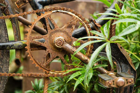 rusty: Old rusty bicycle