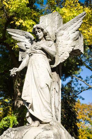 angel cemetery: Angel Statue Cemetery Stock Photo
