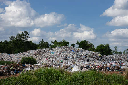 Landfill in the nature