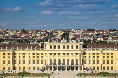 Cityscape Vienna With Schonbrunn Palace Editorial