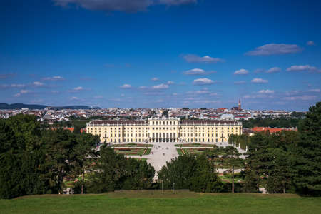 monarchy: Cityscape Vienna With Schonbrunn Palace Editorial