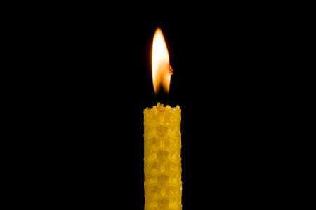 beeswax candle: Candle Beeswax Stock Photo