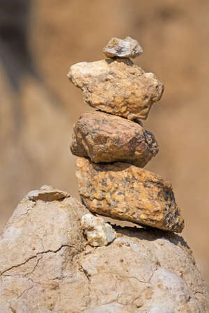 stacked stones in rock aerea of Sao Din Na Noi, Nan Province, Thailand