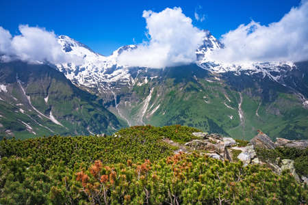 Hohe Tauern in Austria with snowcapped mountains