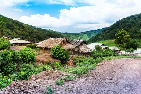 Mountain Village Laos Stock Photo - 82897761