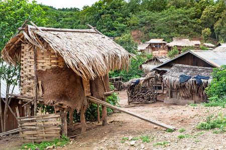 Mountain Village Laos Stock Photo - 82897765
