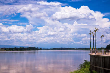 Mekong Riverbank, travel destination at Phon Phisai in Nong Khai Province of Thailand