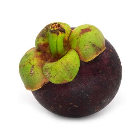 Purple Mangosteen Fruit Archivio Fotografico