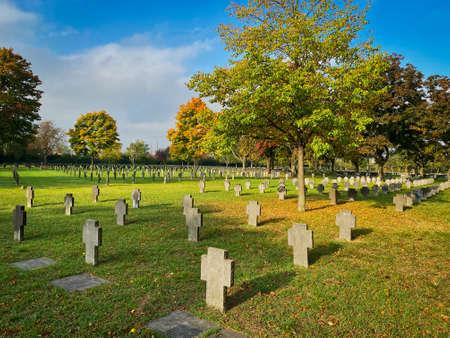 war graves of world war II at Zentralfriedhof in Vienna