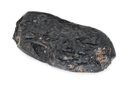 Tektite stone on white