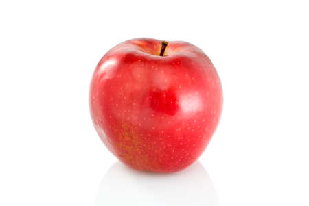 Single red apple isolated on the white background Stock Photo