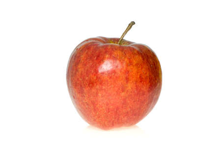 pome: Red apple isolated on the white background Stock Photo