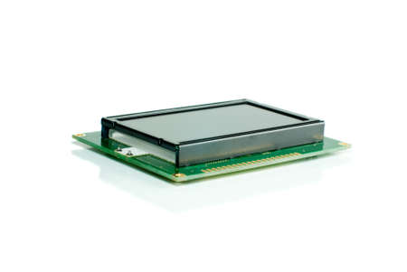 liquid crystal display: Liquid crystal display module isolated on the white backgroun Stock Photo