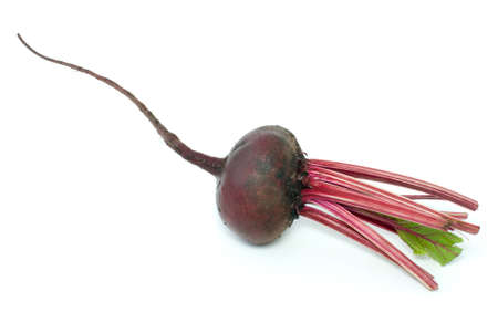 Red beet isolated on the white background photo