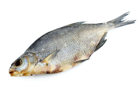 abramis: Dried bream fish isolated on the white background Stock Photo