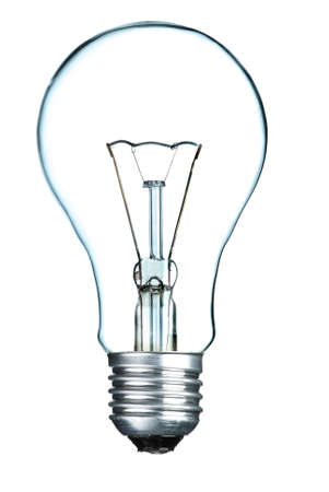 Light bulb isolated on the white background