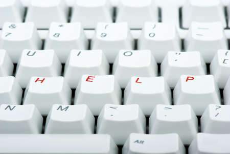 Computer keyboard with red 'HELP' keys Stock Photo - 5356063