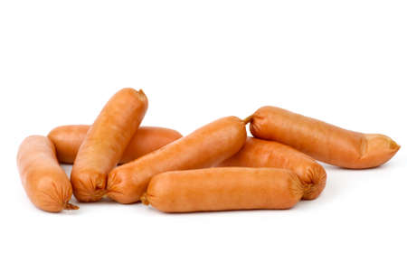 few: Few sausages isolated on the white background