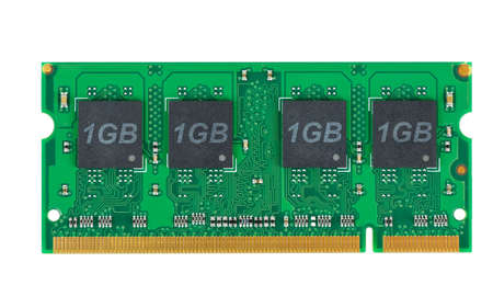 module: Laptop memory module (SO-DIMM) isolated on the white background
