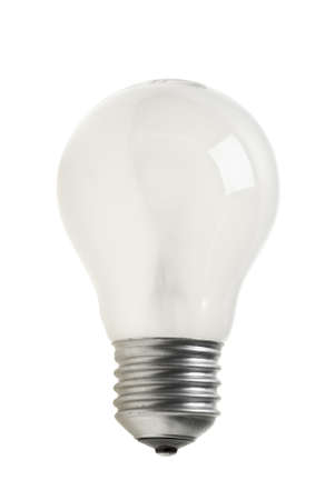 Matted tungsten light bulb  isolated on the white background