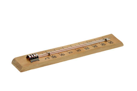 celcius: Alcohol air thermometer  isolated on the white background Stock Photo