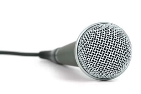 Professional dynamic microphone  isolated on the white background