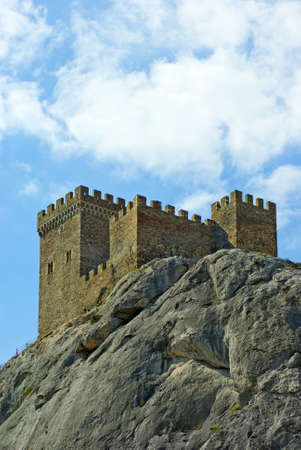 genoese: Ancient consular castle. Genoese fortress. Crimea. Sudak