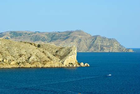 promontory: Alchak cape and Meganom cape. Black sea. Crimea. Ukraine