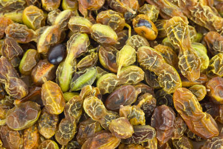 Abstract background: Dried sophora japonica  beans Stock Photo