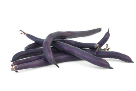 Black wax beans  isolated on the white background Stock Photo