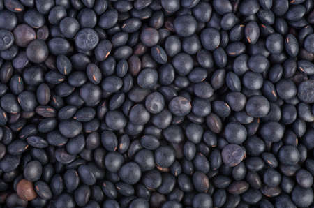 Background of black Beluga Lentils photo