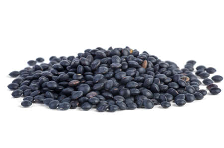 Small pile of black Beluga Lentils photo