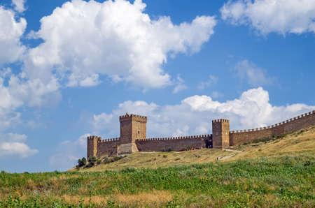 genoese: Genoese fortress. Crimea. Sudak