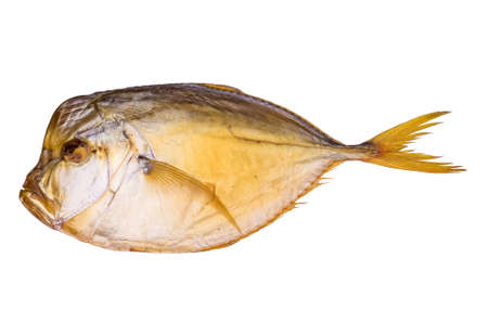 Smoked atlantic moonfish isolated on white background photo