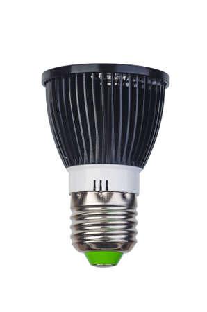 Spot led lightbulb with e27 (ES) base isolated on white background