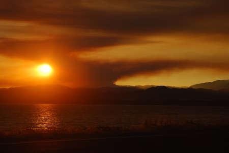 Smoky Sunset Фото со стока