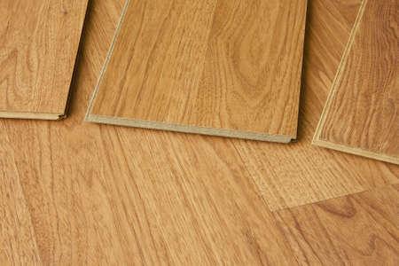 Piezas de madera, suelos mostrando machihembrado Foto de archivo - 6174542