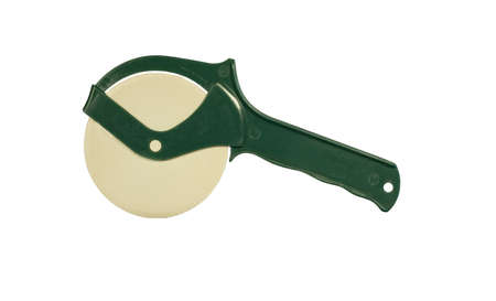 cutter: green pizza cutter isolated at this size