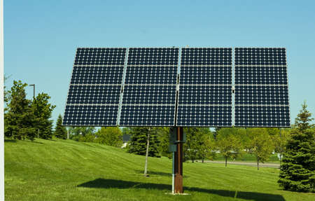 blue solar energy panels for generating clean power