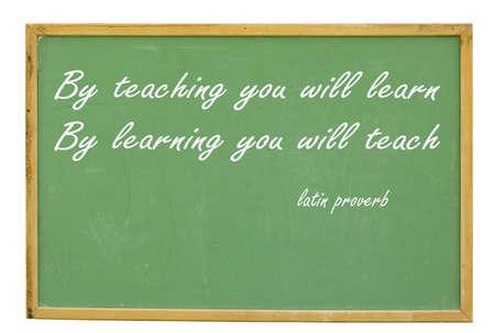 cotizacion: antigua pizarra afirmando por ense�anza le aprender�n por aprendizaje que ense�ar� con trazado de recorte en este tama�o