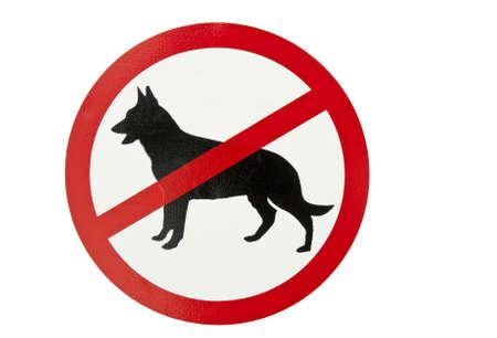 Aucuns chiens ne permis signe. Banque d'images - 7223107