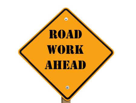 road work ahead sign. Banco de Imagens - 7282296