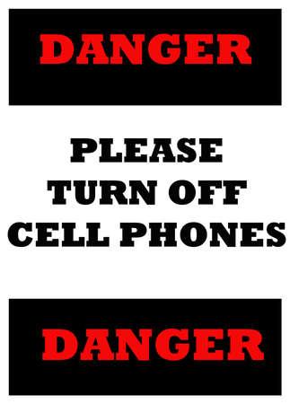 記号を示す携帯電話をオフにする必要があります。 写真素材