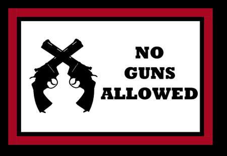 sign indicating no guns are allowed