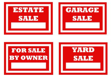 示されているように使用する自家所有者のための販売サインのため 写真素材